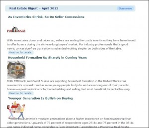 Real Estate Digest Website Sample